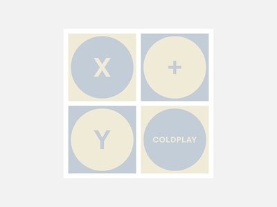 X&Y – Coldplay coldplay 100 day project album cover design minimalism personal project typography