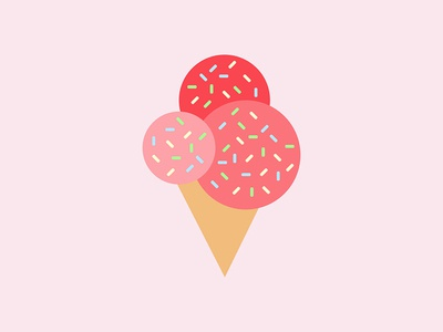 Ice Cream pink iconography graphic design icecream minimalism illustration social media