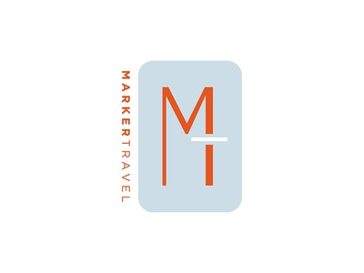 Logo — Marker Travel typogaphy travel logo design logo graphic design branding brand identity