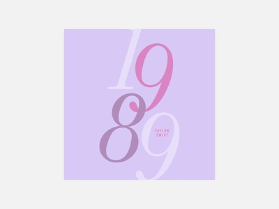 1989 – Taylor Swift taylor swift typography personal project minimalism graphic design album cover design 100 day project