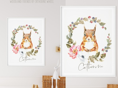 Woodland forest Animals clipart, watercolor illustration, deer printable ideas kids room creative clipart peony wall art nursery baby shower card graphics forest woodland wreath berry squirrel vintage animal illustration watercolor