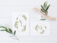 Grace & Glory Hand-painted Watercolor Botanical Alphabet Sale