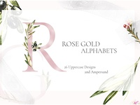 Grace & Glory Hand-painted Watercolor Botanical Alphabet