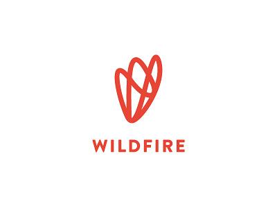 Wildfire burlington product design social flame identity fire volunteer non-profit red mark branding logo