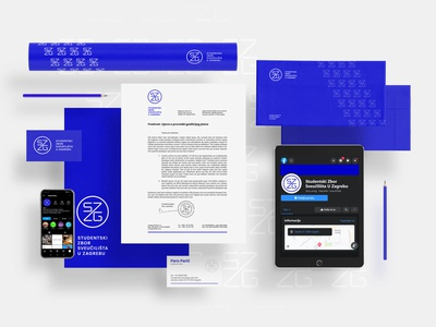 The Students Council of the University of Zagreb clean vector logo croatia zagreb office materials office rebrand brandidentity identity graphicdesign design