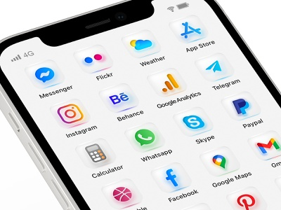 Frosted Glass Blocks. iOS 14 icons set iphone 12 mockup ui icons design icons pack icons set icons iphone ui iphone icons dashboard ui dashboad iphone ios ios14 ios14icons