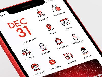 Xmas Eye Candy. iOs 14 icons set candy christmas icons christmas iphone ui xmas icons set icons pack icon design iphone icons ios icons ios14icons ios14
