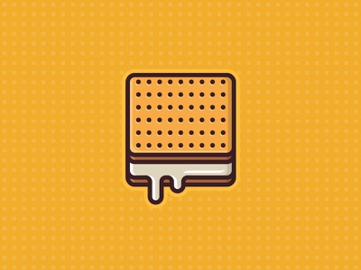 Biscuit cookie sweet biscuit icon flat cake baking