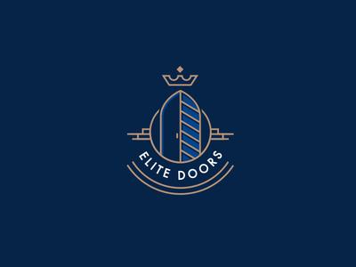 Elite Doors pxel perfect luxury door elite line design icon logo branding