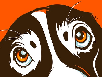 Basset Hound! hound mascot character pet animal cover illustration dog basset