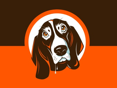 Basset Hound face! basset dog illustration cover animal pet character mascot hound