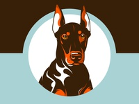 Doberman Pinscher face!