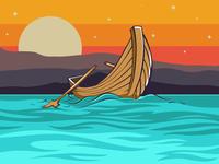 Empty Wood Boat