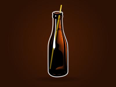Sparkling Bottle Brown