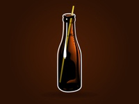 Sparkling Bottle Brown