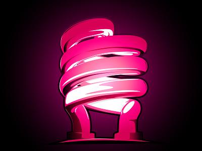 Neon bulb pixelinstudio vector artwork graphic art neon light vector art pink light glass bulb neon