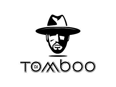 DJ Tomboo mustache gentleman hipster typography id lettering cartoon icon design branding mascot logo character illustration vector