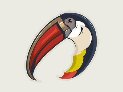 Toucan Head Mascot argentina brazil america africa tukane tropic design art character head artwork mascot illustration vector icon animal logo bird flying sport tucan