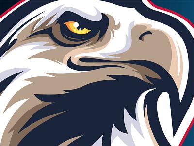 American Eagle Face birds eagle logo portrait face sale team wild bird eagle animal icon cartoon branding mascot design character logo illustration vector