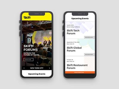 Skift Forums-mobile version ui business mobiledesign digital sketch