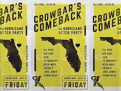 Crowbar's Comeback Poster folds florida flyer concert poster