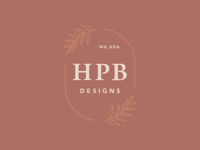 Etsy Logo ecommerce serif leaf flower flower icon badge logo new hampshire h logo hpb etsy branding illustration design logo