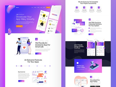 Digital Marketing PSD Template agency ui ux business design modern landing page creative clean