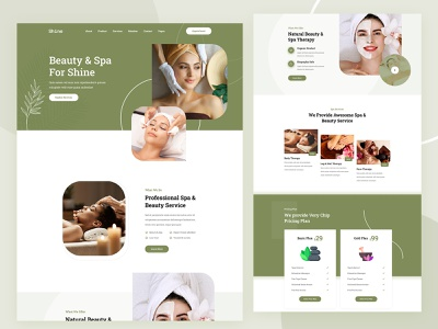 Spa & Beauty Figma Template landing page design branding illustration modern ux ui creative clean shine beauty