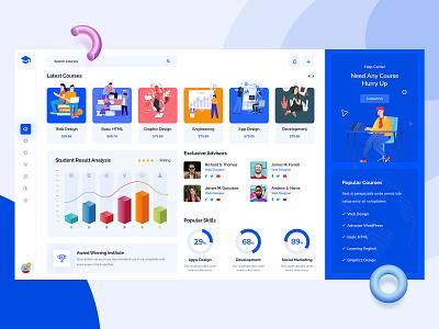 Course Dashboard creative concept software illustration ui ux modern dashboard ui dashboard course