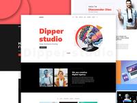 Dipper - Creative, Minimal Portfolio PSD Template