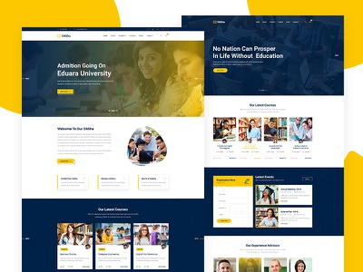 Sikkha - Education PSD Template university training center training teaching study online study abroad students learning education course academy