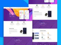 Maxapp - App Landing PSD Template