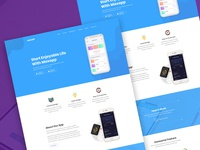 Max - App landing PSD Template