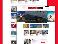 New & Blog PSD Template