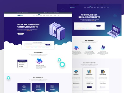 Hosting Provider & WHMCS PSD Template whmcs webhosting vps technology solution shared hosting provider hosting domain cloud clean business bootstrap blue