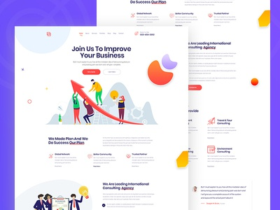 Agency PSD Template modern illustration vector creative clean landing page sass corporate agency business
