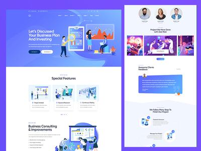 Digital Marketing PSD Template digital design illustration ux ui agency modern creative clean