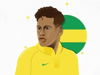 Neymar Illustration fifa 18