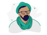 Beard Man Illustration