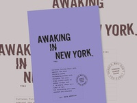 Awaking In New York