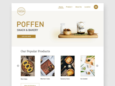 Poffen Snack & Bakery Website Design product bakery snack interface ui design website