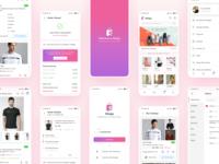 E-commerce Shopy animation botttom tab interaction design app design ux logo design ui uiux app ui