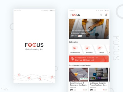 "Online Learning App ""Focus"""