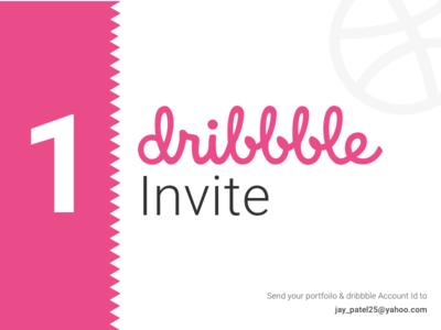 1 Dribbble Invite invitaion dribbble invite