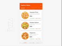 Pizza Ordering - Interaction