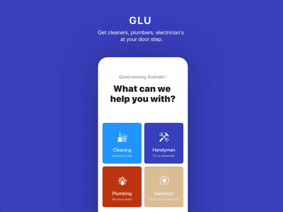 GLU Home service on demand mobile app
