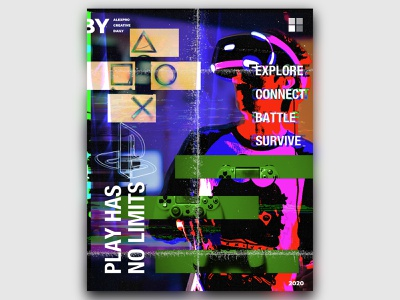 CREATIVE DAILY 020 design glitch playstation digitalartist affinity designer creativedaily digitalart photoshop posterart poster