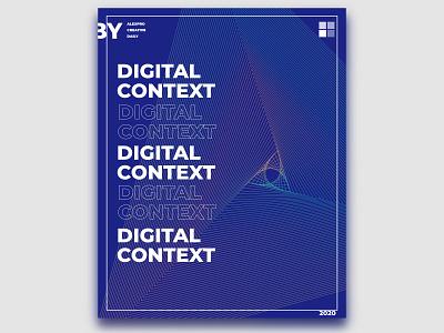 CREATIVE DAILY 025 design blue minimal digitalartist affinity designer creativedaily digitalart photoshop posterart poster