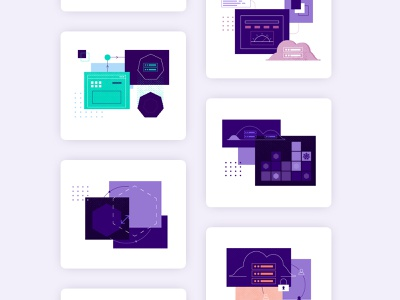 Illustrations for Product Pages product page website concept mesosphere illustration