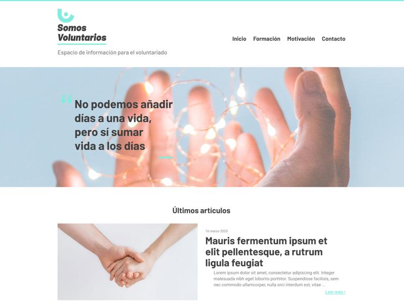 Somos Voluntarios branding figma ui layout web